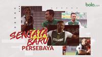 Senjata baru Persebaya, Hansamu Yama, Amido Balde, Damian Lizio. (Bola.com/Dody Iryawan)