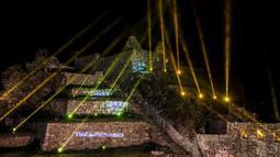 Pemandangan situs arkeologi Machu Picchu di Cusco, Peru, 1 November 2020. Machu Picchu kembali dibuka seiring menurunnya penularan COVID-19 di Peru. (ERNESTO BENAVIDES/AFP)
