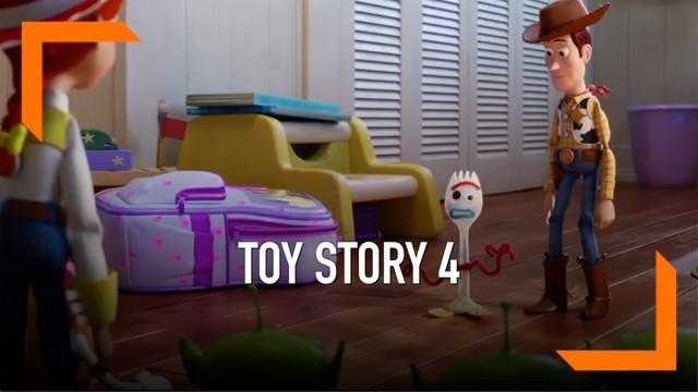 Pixar Animation Studio resmi merilis trailer Toy Story 4. Adegan awal trailer memperkenalkan tokoh baru yakni Forky.