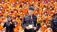 Kapolda Riau Irjen Agung Setya Imam Effendi dalam konferensi pers pengungkapan narkoba. (Liputan6.com/M Syukur)