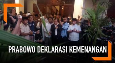 Capres Prabowo Subianto kembali mendeklarasikan kemenangan di pilpres 2019 di Jalan Kartanegara. Prabowo menyatakan momen ini adalah saat yang tepat untuk kembali rekonsiliasi dengan sejumlah pihak termasuk dengan kubu 01 Jokowi-Ma'ruf Amin.