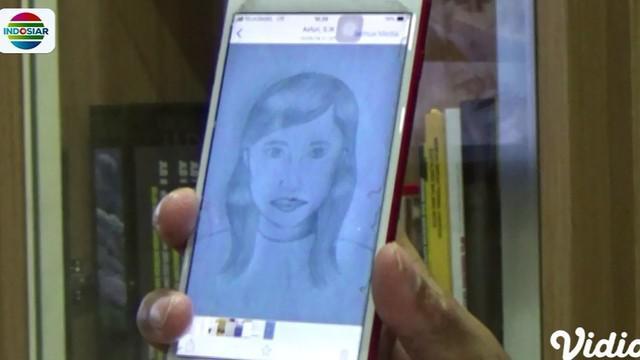 Polisi menyebarkan sketsa wajah ini menggunakan media sosial agar masyarakat yang mengenali dapat segera melaporkannya.