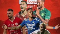 Liga 1 - Marko Simic, Ilija Spasojevic, Wander Luiz, David da Silva, Kushedya Hari Yudo (Bola.com/Adreanus Titus)