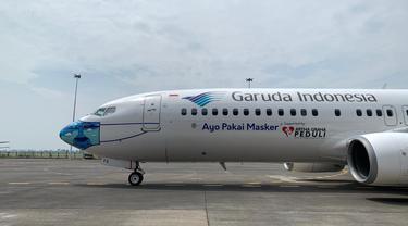 Desain masker baru pesawat Garuda Indonesia pada armada B737-800 NG