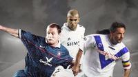 Roberto Baggio, Zidane dan Paul Gascoigne. (Bola.com/Dody Iryawan)