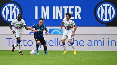FOTO: Pesta Gol ke Gawang Sampdoria, Inter Milan Pertegas Status Jawara Liga Italia