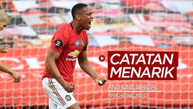 Berita video beberapa catatan menarik yang ditorehkan bintang Manchester United, Anthony Martial, di Premier League 2019-2020.