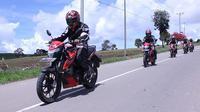 Touring Suzuki GSX150 Bandit di Manado. (SIS)