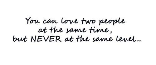 Sulit untuk mencintai dua orang dengan kadar yang sama./Copyright damiequotes.blogspot.com