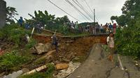 Banjir dan longsor terjadi di kawasan Lebak, Banten. (Liputan6.com/Yandhi Deslatama)