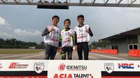 Tiga pembalap binaan PT Astra Honda Motor (AHM) akan meramaikan persaingan Asia Talent Cup musim depan. (Astra Honda)