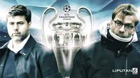 Banner Infografis Siapa Boyong Trofi Liga Champions ke Inggris? (Sumber Foto: AFP)