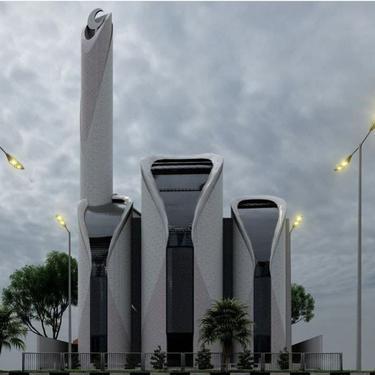 Desain Masjid Syeikh Ajlin