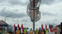 Pemerintah meresmikan Jalan Layang (Flyover) Purwosari di Kota Solo, Jawa Tengah, Sabtu 13 Februari 2021. (dok: Maulandy)