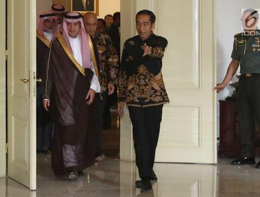 Presiden Jokowi Terima Kunjungan Menlu Arab Saudi di Bogor
