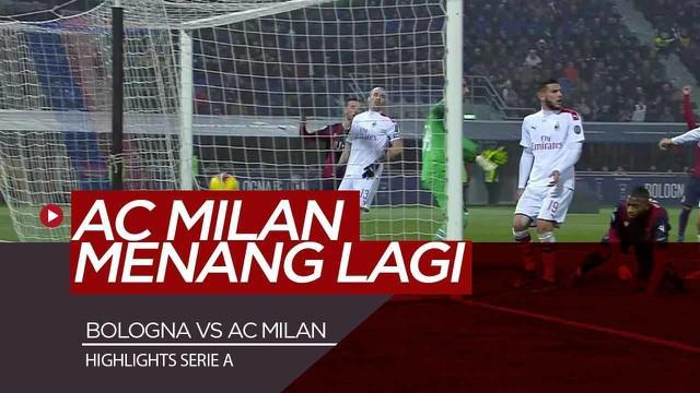Berita Video Highlights Serie A, AC Milan sukses menang back to back usai kalahkan Bologna 2-3