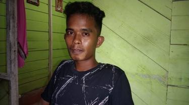 Seorang nelayan bernama Parmin Lihawa (24), asal Kabupaten Gorontalo Utara (Gorut) (Arfandi ibrahim/Liputan6.com)