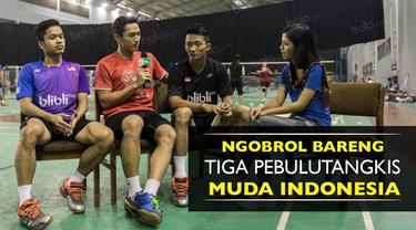 Tiga pebulutangkis muda Indonesia, Jonatan Christie, Ihsan maulana dan Anthony Ginting berbagi cerita soal idola dan target prestasinya.