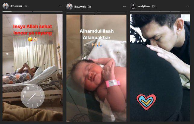Kelahiran anak kedua Iko Uwais dan Audy Item./Copyright Instagram.com/iko.uwais/audyitem