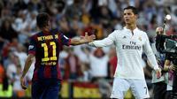 Neymar dan Cristiano Ronaldo (AFP/Gerard Julien)
