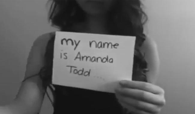 Video Amanda Todd sudah ditonton belasan juta kali./Copyright youtube.com/user/SirBuddly