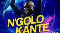 Berita Infografis - Manchester City Vs Chelsea Man Of The Match N'Golo Kante (Bola.com/Adreanus Titus)