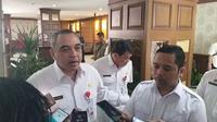 Bupati Tangerang, Ahmed Zaki Iskandar bertemu Wali Kota Tangerang, Arief R Wismansyah di Pusat Pemerintahan Kota Tangerang. (Liputan6.com/Pramita Tristiawati)