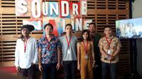 Kolaborasi Dialog Dini Hari dan Scaller di Soundrenaline 2018. (Surya Hadiansyah)