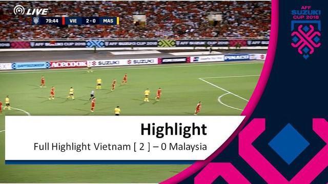 Berita video gol-gol yang tercipta saat Vietnam mengalahkan Malaysia dalam lanjutan Grup A Piala AFF 2018 di Hanoi, Jumat (16/11/2018).