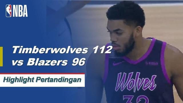 Andrew Wiggins mencetak 23 poin dan Derrick Rose menambah 17 poin dari bangku cadangan ketika Timberwolves memenangi ketiga beruntun mereka dengan mengalahkan Trail Blazers, 112-96.