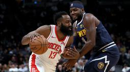 Catatan fenomenal terjadi saat James Harden mencetak 44 point ketika dirinya mengantar Houston Rockets mengalahkan Philadephia 76ers. (AFP/Getty Images/Matthew Stockman)