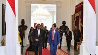 Raja Eswatini, Mswati III bertemu Jokowi di Istana Merdeka. (Foto: Biro Pers Istana)