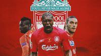 Liverpool - Mario Balotelli, Djibril Cisse, Andy Carrol (Bola.com/Adreanus Titus)