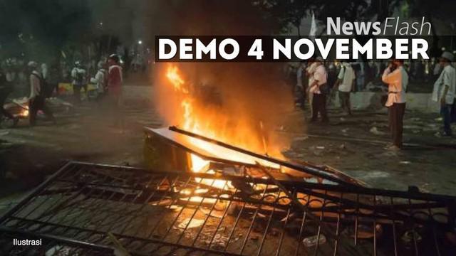 Polda Metro Jaya mengamankan puluhan orang yang diduga menjadi provokator pada saat Demo 4 November