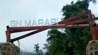 Titik awal jalur pendakian Gunung Marapi Sumatera Barat. (Foto: Liputan6.com/ Novia Harlina)