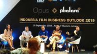 Indonesia Film Business Outlook 2019, di Arthotel Thamrin, Jakarta, Kamis (13/9/2018). (Anggun P. Situmorang/Merdeka.com)
