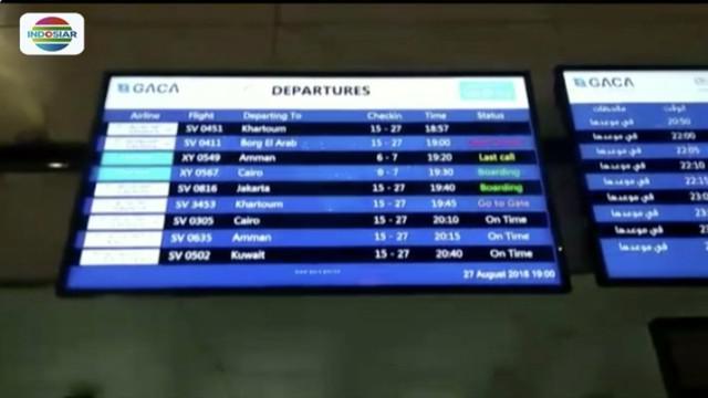 Lima belas kelompok terbang jemaah haji asal Indonesia sudah pulang melalui Bandara King Abdul Aziz, Jeddah.
