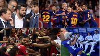 Berikut ini lima momen menarik La Liga Spanyol 2017/2018 pekan keenam. (Kolase foto-foto dari AFP dan AP)