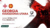Kualifikasi Piala Eropa 2020 - Georgia Vs Makedonia Utara (Bola.com/Adreanus Titus)