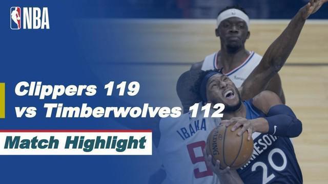 Berita Video Highlights NBA, Kawhi Leonard Bawa LA Clippers Raih Kemenangan atas Minnesota Timberwolves
