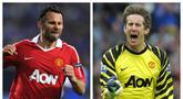 Selain dihuni para pemain muda, Manchester United juga memiliki para pemain tua yang berkontribusi besar dalam kejayaan Setan Merah. Berikut 4 pemain tertua yang pernah memperkuat Manchester United sepanjang sejarah. (Kolase Foto AFP)