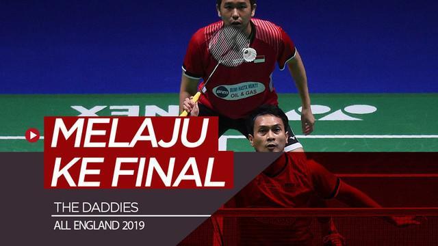 Berita video momen The Daddies, Mohammad Ahsan / Hendra Setiawan yang mengalahkan duo Jepang pada semifinal dan melaju ke final All England 2019.