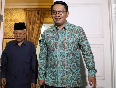Usai Walikota Solo, Giliran Ridwan Kamil Silaturahim ke Rumah Ma'ruf Amin