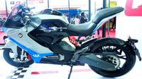 QJ7000D merupakan motor listrik konsep garapan Qianjiang Motorcycle. (GaadiWaadi)
