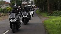 Honda PCX Luxurious Trip 2019 menjelajah Bali dengan jarak tempuh 393 kilometer. (AHM)