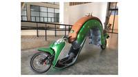 Modifikasi Nyeleneh Sepeda Motor Matic Ini BikinTepuk Jidat (sumber:1cak.com)