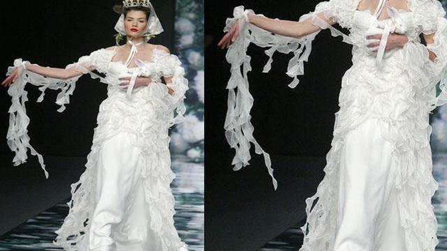 5 Gaun Pengantin Teraneh Di Dunia Fashion Fimela Com