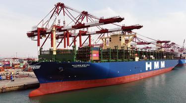 Kapal Kontainer Terbesar di Dunia