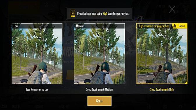 PUBG Mobile di Huawei nova 5T (screenshot)