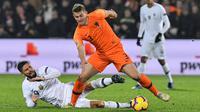 Matthijs de Ligt (CB) - Bek tengah Timnas Belanda tersebut kabarnya dibanderol dengan harga 75 juta Euro, menjadi salah satu pemain belakang termahal di Euro 2020. (Foto: AFP/Emmanuel Dunand)